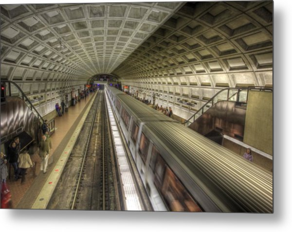 Smithsonian Metro Station Metal Print