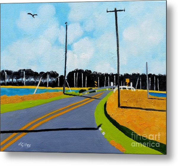 Smithville Boat Ramp Metal Print by Lesley Giles
