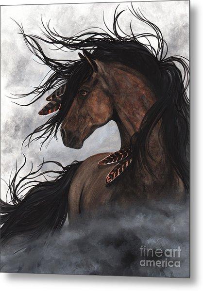 Smoke Majestic Horse Metal Print