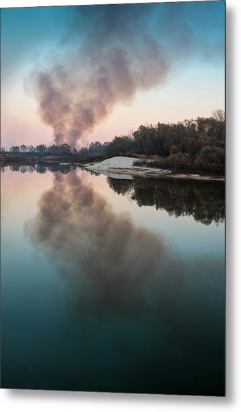Smoke On The Water. Horytsya, 2014. Metal Print