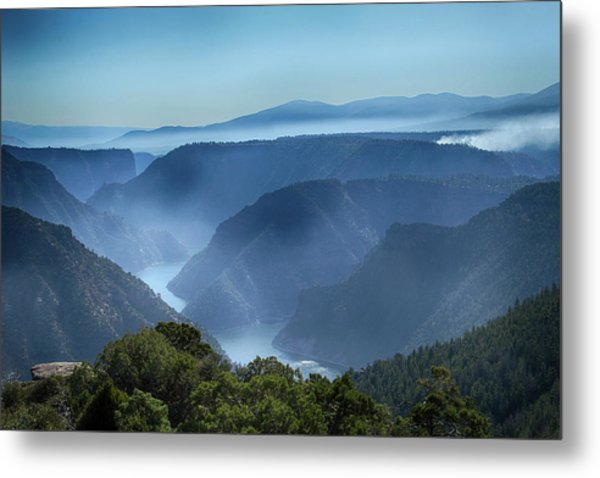 Smoke Over Flaming Gorge Metal Print
