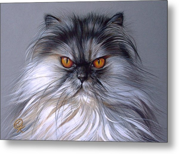 Smoke Persian Metal Print