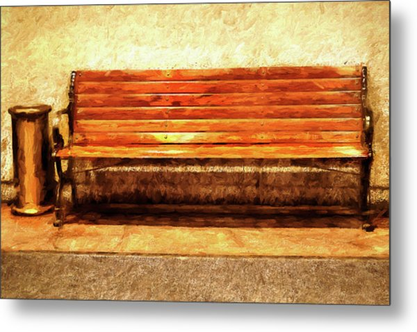 Smoker's Bench Metal Print