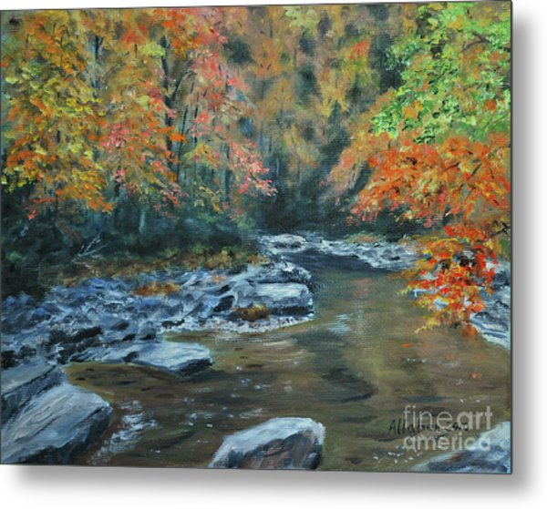 Smokey Mountain Autumn Metal Print