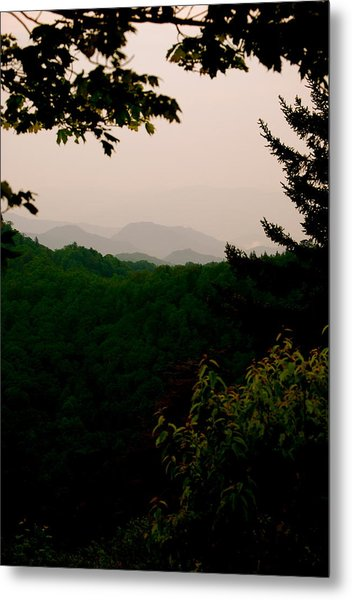 Smokey Mountains At New Found Gap Metal Print by Kimberly Camacho