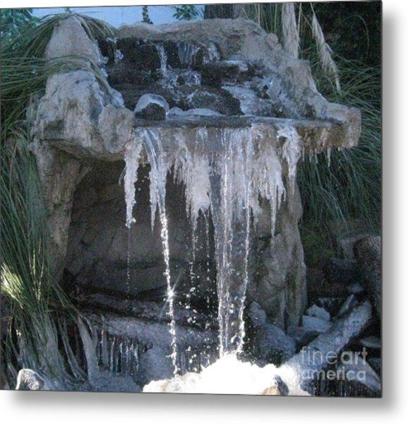 Smokey Stoves Frozen Falls Metal Print