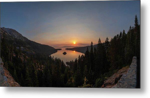 Smokey Sunrise At Emerald Bay Metal Print