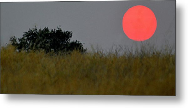 Smokey Sunset Metal Print