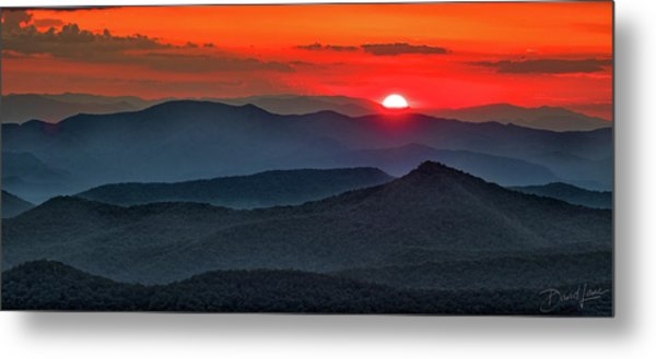 Smokies Sunset Metal Print