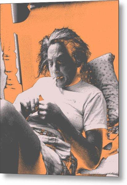 Smoking Hard Coke Metal Print by John Toxey