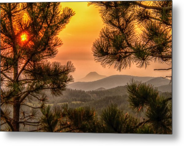 Smoky Black Hills Sunrise Metal Print