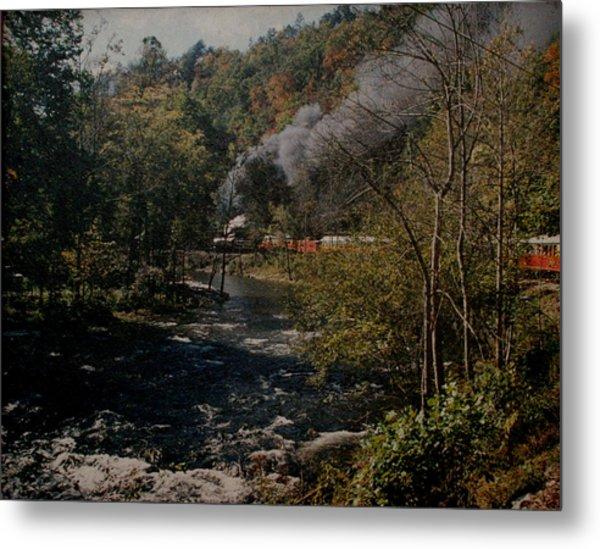 Smoky Mountains Rail Road Metal Print by Joseph G Holland