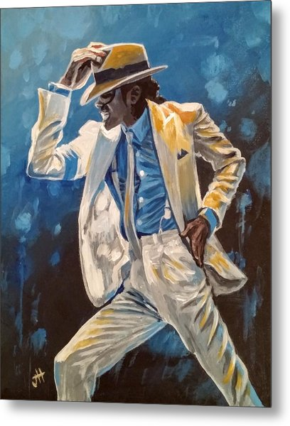Metal Print featuring the painting Smooth Criminal by Jennifer Hotai