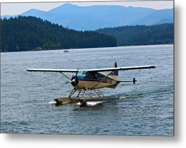 Smooth Landing On Lake Coeur D'alene Metal Print