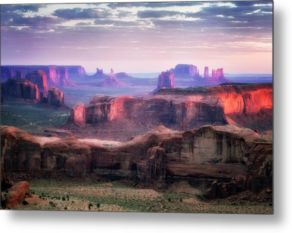 Smooth Sunset Metal Print