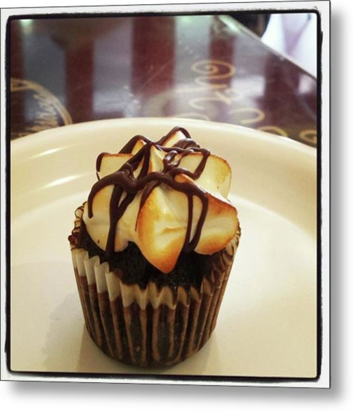 Metal Print featuring the photograph smore Miniature Cupcake N Coffee by Mr Photojimsf