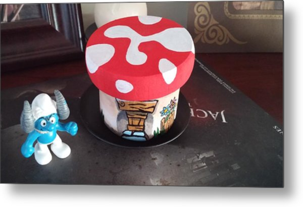 Metal Print featuring the painting Smurf House by Jennifer Hotai