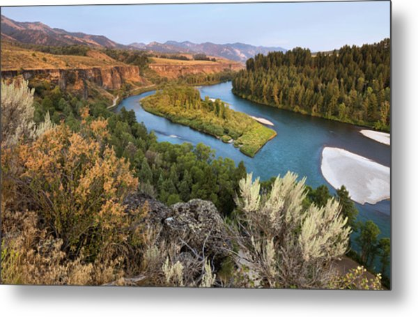 Snake River - Heise Road Metal Print by David Halter