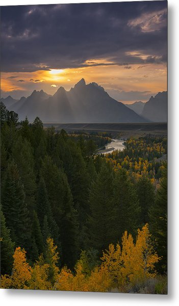 Snake River Sunset Metal Print