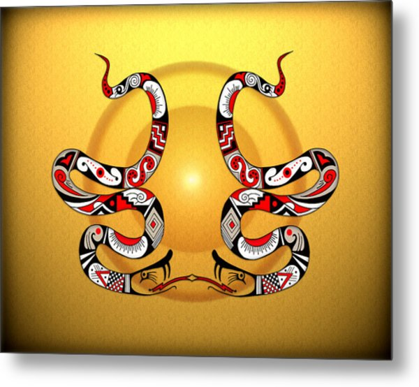 Snakes Homage To Mata Ortiz Metal Print by Tony Ramos