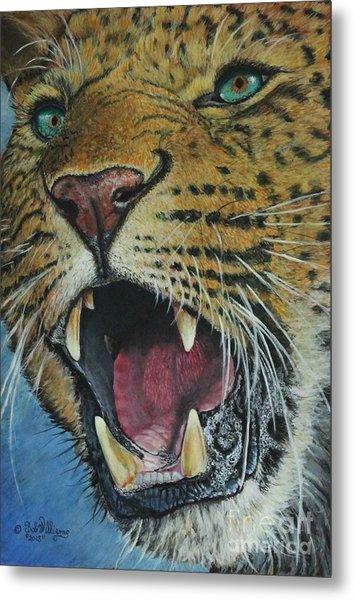 Snarl...amur Leopard Metal Print