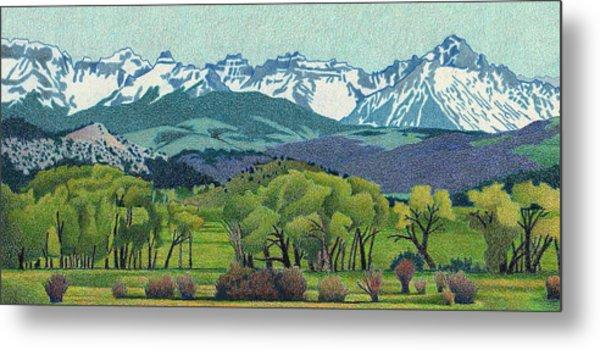 Sneffels Range Spring Metal Print