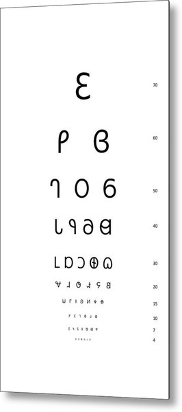 Snellen Eye Test Chart Dereset Digital Art By Marco Mora Huizar