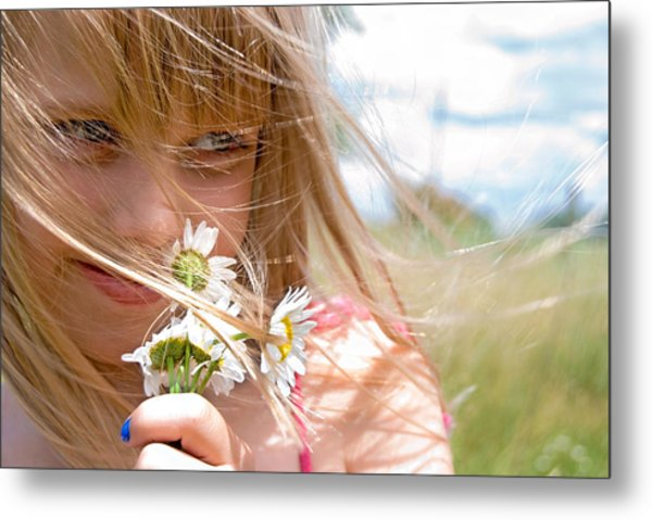 Sniffing Summer Metal Print by Maria Dryfhout