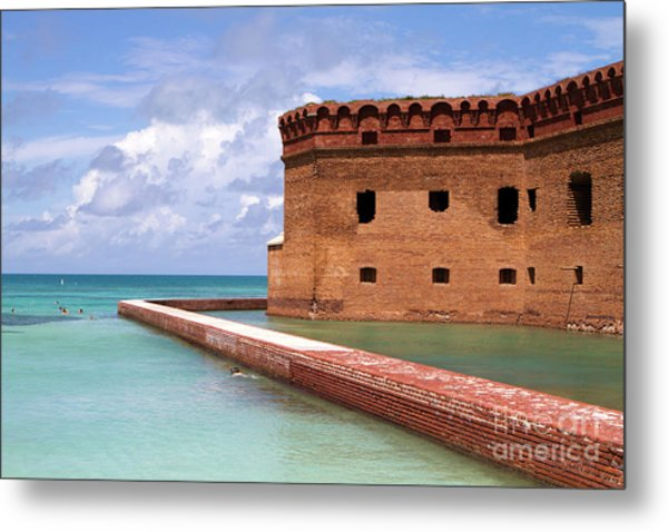Metal Print featuring the photograph Snorkelers Fort Jefferson by Steven Frame