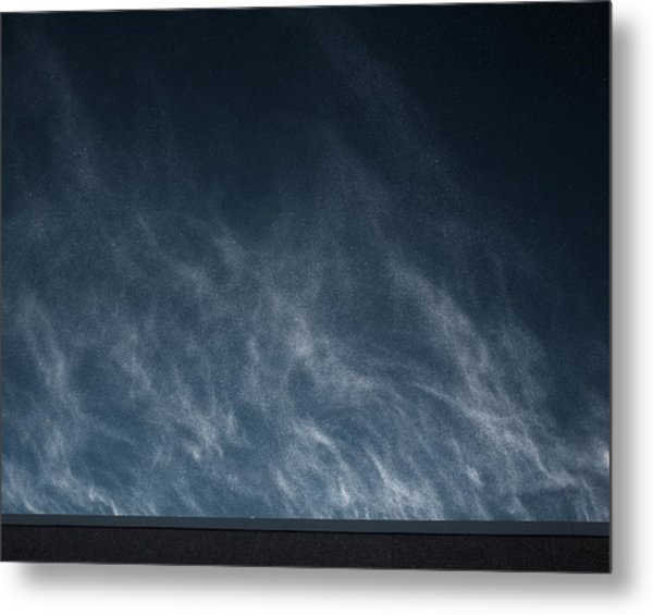 Snow Blown Off A Roof Metal Print