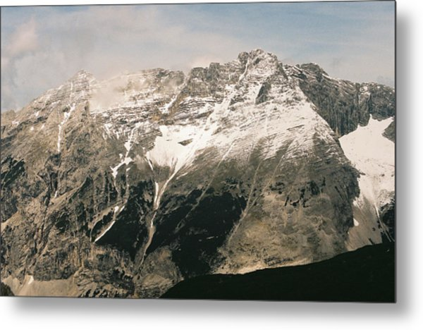 Snow Capped Austrian Summer Metal Print by Patrick Murphy