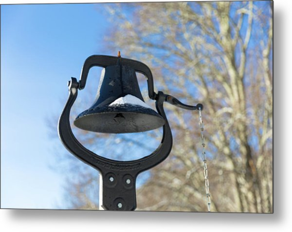 Snow Covered Bell Metal Print