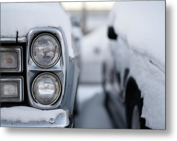 Snow Covered Classic Metal Print