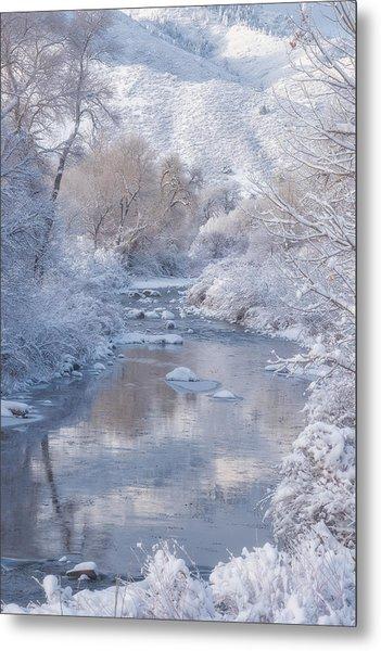 Snow Creek Metal Print