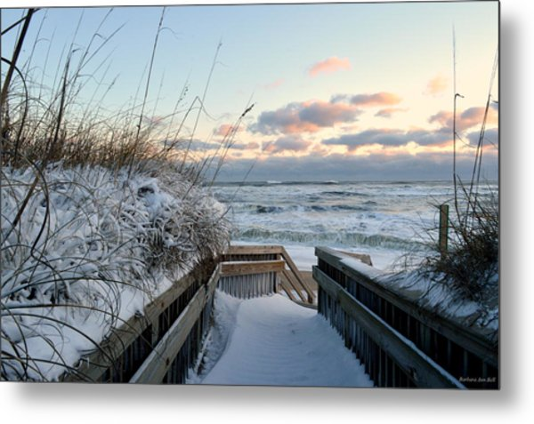 Snow Day At The Beach Metal Print