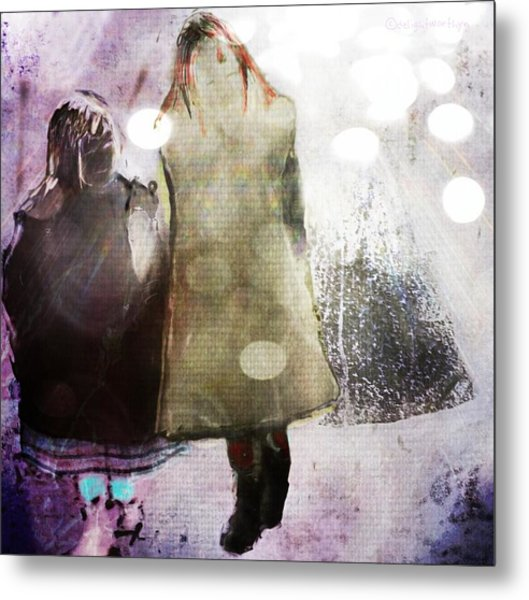 Metal Print featuring the digital art Snow Day by Delight Worthyn