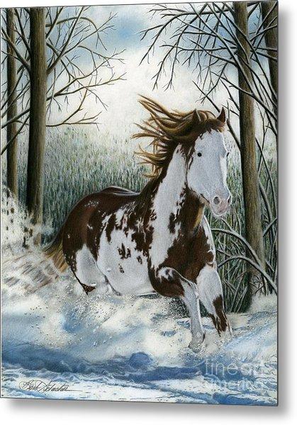 Snow Driftin', Pastel Metal Print