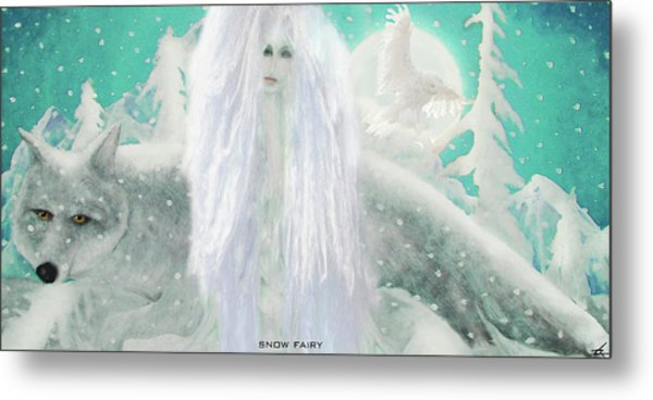 Snow Fairy Metal Print