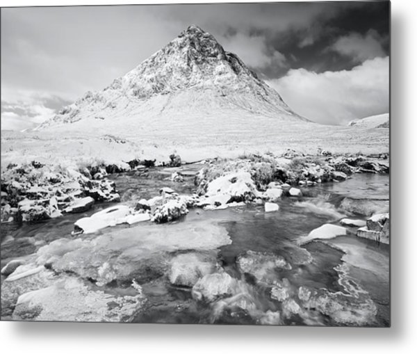Snow In Glencoe Metal Print