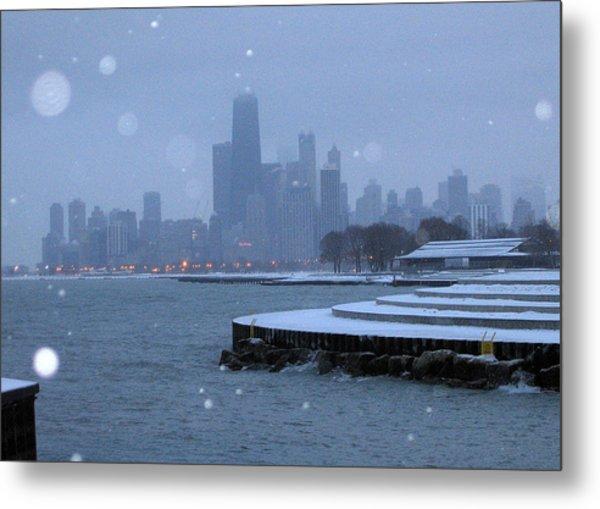 Snowy Chicago Metal Print