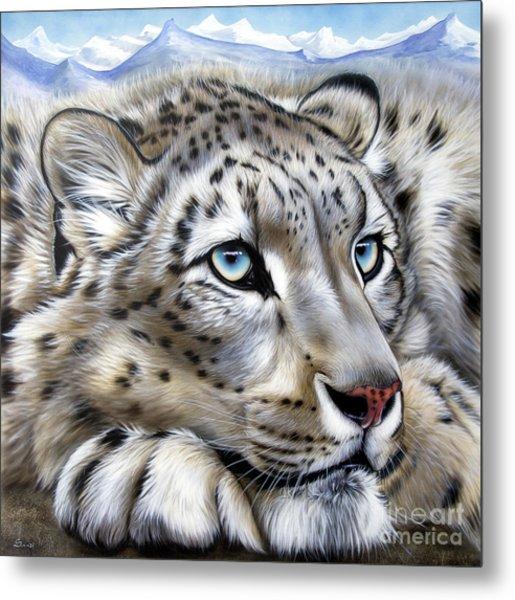 Snow-leopard's Dream Metal Print