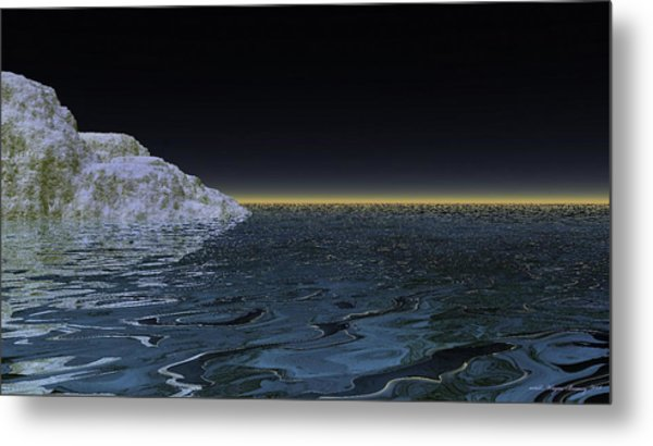 Snow On The Black Sea Metal Print by Wayne Bonney