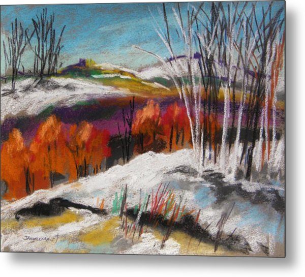 Snow On The Hills Metal Print by John Williams