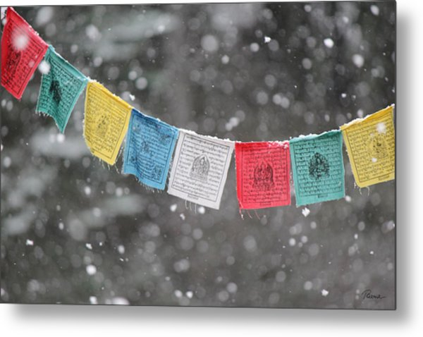 Snow Prayers Metal Print