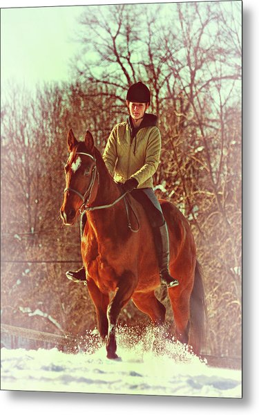 Snow Ride Metal Print by JAMART Photography