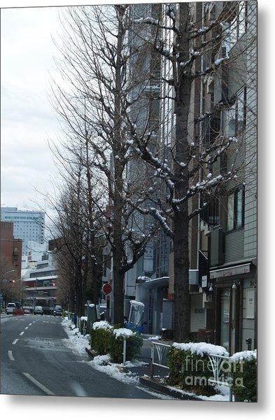 Snow Shibuya Tokyo Japan Metal Print by Lee Tinglu