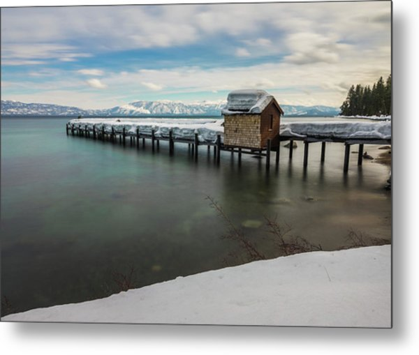 Snow White Pier Metal Print