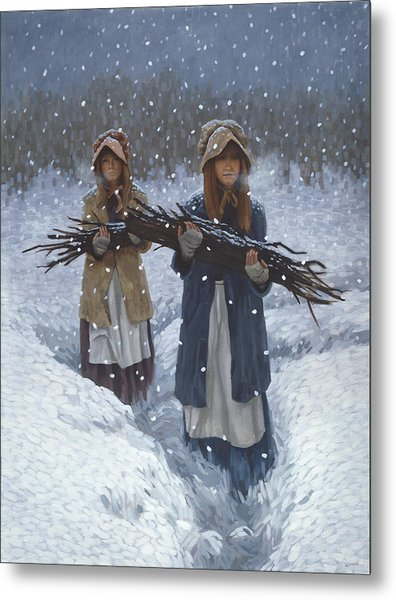 Snowbound At Red Buttes Metal Print