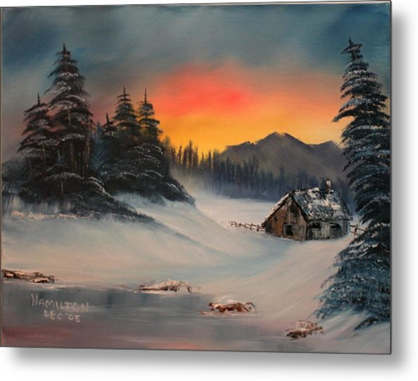 Snowbound Sunrise Metal Print