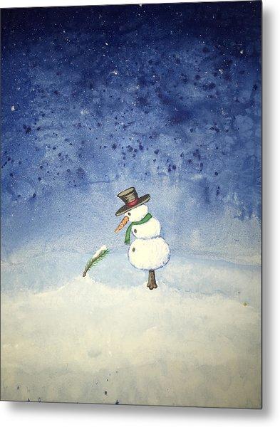 Metal Print featuring the painting Snowfall by Antonio Romero